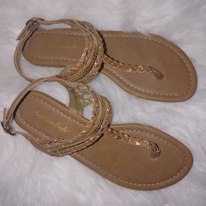 American eagle braid detail strappy sandals 6.5